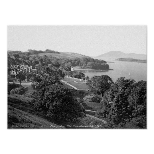 Antique Bantry Bay, West Cork Ireland Poster