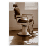 Antique Barber Chair Posters