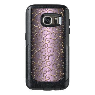 Antique Baroque Faux Gold Ornate Swirl Pattern OtterBox Samsung Galaxy S7 Case