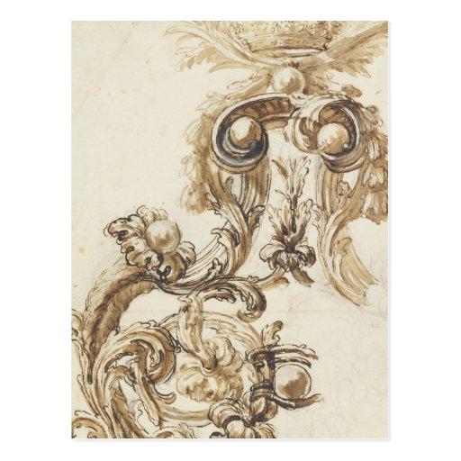 Antique baroque molding post card