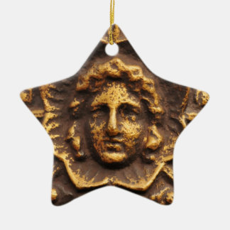Antique basrelief design ceramic star decoration