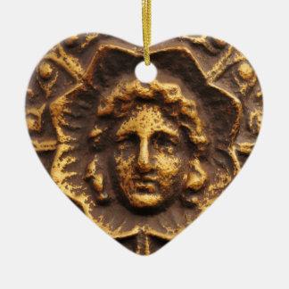 Antique basrelief design christmas ornament