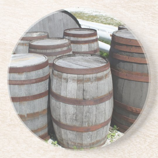 Antique Beer Barrels Photograph Coaster