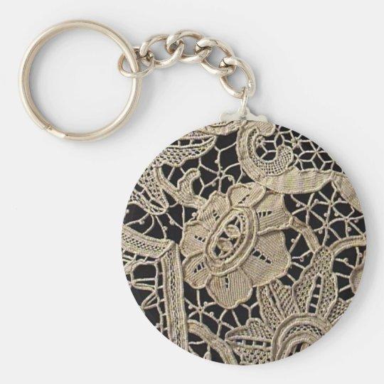 Antique Belgian Zele Lace Key Ring