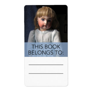 Antique Belton Doll Bookplate Sticker Shipping Label