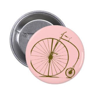 antique bicycle 6 cm round badge