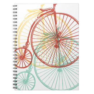Antique bike design notebook
