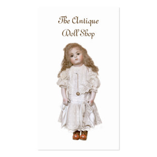 Antique bisque doll reproduction pack of standard business cards