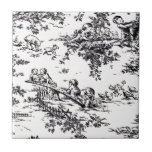 Antique Black and White Baby Toile Ceramic Tile