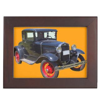 Antique Black Ford Molel A Roadster Antique Car Memory Boxes