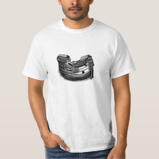Antique Black Wooden Nautical Sea Boat with Anchor Tee Shirt