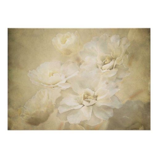 Antique Blossoms Art Print