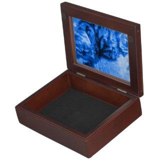 Antique Blue Rose Keepsake Box