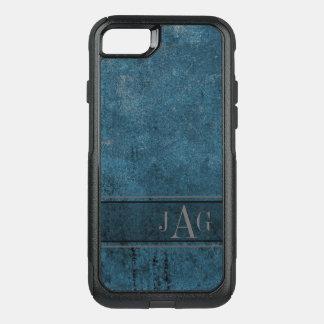 Antique Blue Textured Design OtterBox Commuter iPhone 8/7 Case