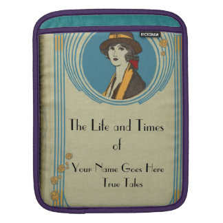 Antique Book Cover  I Pad Sleeve