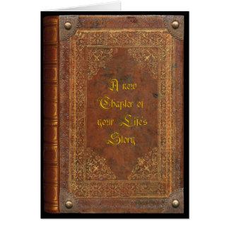 Antique Book (customizable) Greeting Card