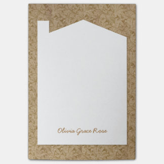 Antique Book End Paper - New House Note Pad