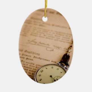 Antique Book Paper Pocket Watch Fob Ornaments