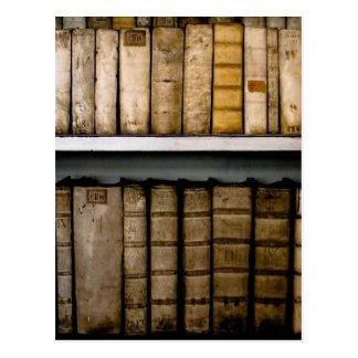 Antique Books 17th Century Vellum Bindings Postcard