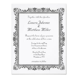 Antique Bordered Wedding Invitation