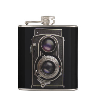 Antique Box Camera Father's Day Flask