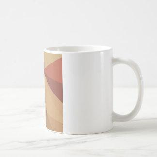 Antique Brass Brown Abstract Low Polygon Backgroun Basic White Mug