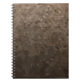 Antique Brass Camo Abstract Low Polygon Background Spiral Note Book