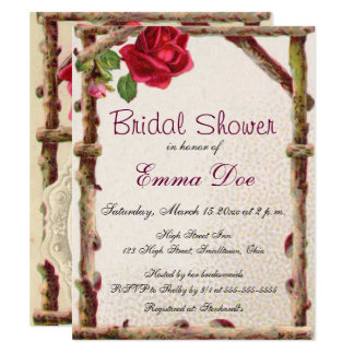 Antique Bridal Shower Invitation Nature Country