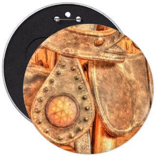 Antique Bridle 6 Cm Round Badge