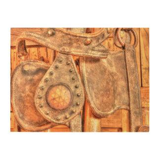 Antique Bridle Wood Print