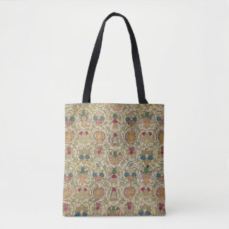 Antique British Floral Embroidery Tote