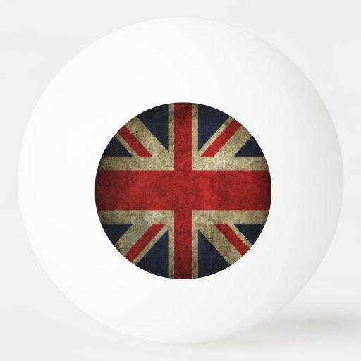 Antique British Union Jack Flag of UK Britain Ping Pong Ball