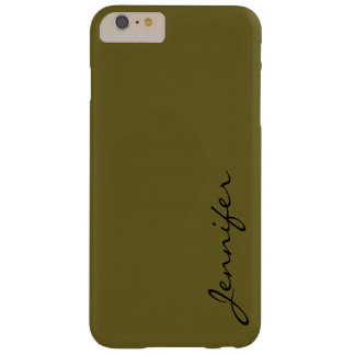 Antique bronze color background barely there iPhone 6 plus case