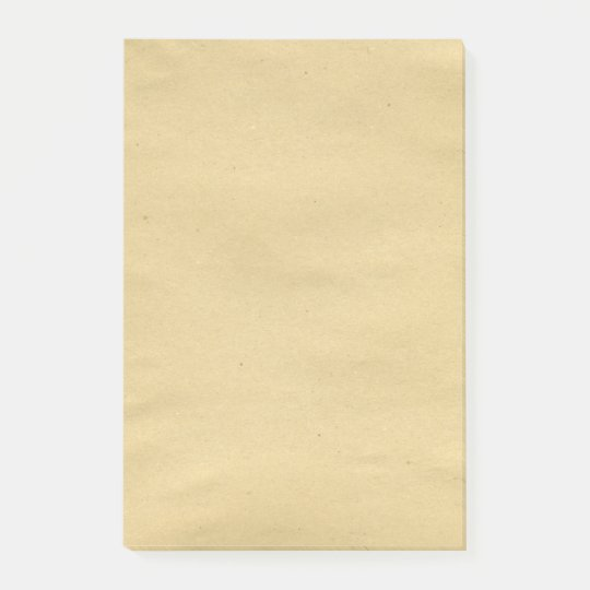 Antique Brown Blank Paper Post-it Notes