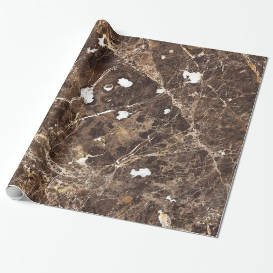 Antique Brown Marble Stone Wrapping Paper