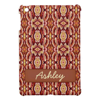 Antique Brown Sepia Lace Pattern iPad Mini Cases