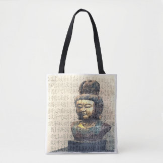 Antique Buddha Heart Sutra Buddhism Art Tote Bag