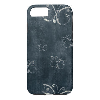 Antique Butterflies on Dark Blue iPhone 8/7 Case