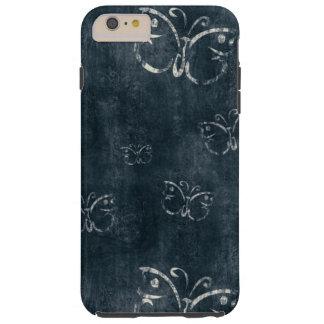 Antique Butterflies on Dark Blue Tough iPhone 6 Plus Case