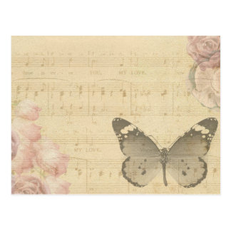 Antique butterfly postcard