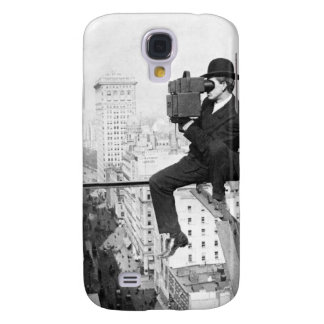 antique camera on a city highrise vintage photo galaxy s4 cases