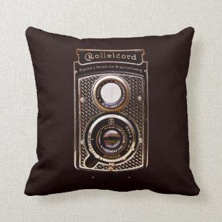Antique camera rolleicord art deco cushion