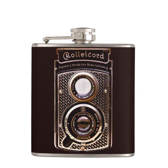 Antique camera rolleicord art deco flasks