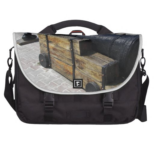 Antique Cannon Laptop Messenger Bag