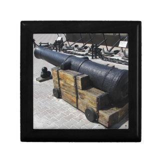 Antique Cannon Small Square Gift Box