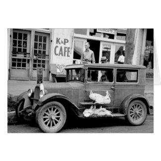 Antique Car, 1930s Card