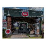 Antique Car and Pump Postcard