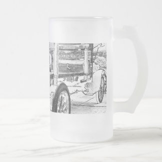 Antique car as a sketch frosted mug