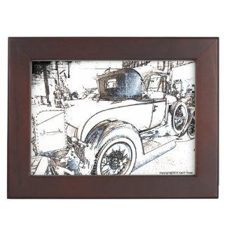 Antique car as a sketch keepsake box