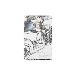 Antique car as a sketch pocket notebook